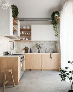 Kitchen Room Design, Kitchen Sets, Modern Kitchen Design, Home Decor Kitchen, Interior Design Kitchen, Kitchen Furniture, New Kitchen, Home Kitchens, Kitchen Design Minimalist