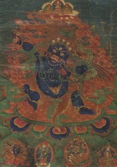 A Thangka Depicting Hayagriva  19 1/2  by 13 5/8  in. (49.5 by 34.6 cm)  Tibet, 18th/19th century