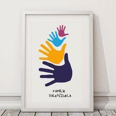 Personalisiertes Familienbild HAND IN HAND von Pecamia auf DaWanda.com