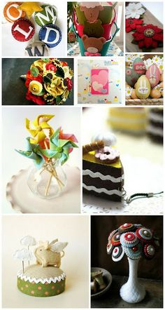 Felt inspiration, not only for holidays :) 80 ideas for ornaments made of felt.