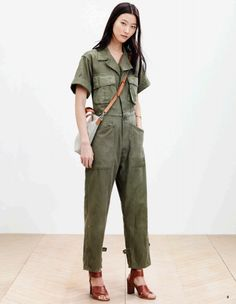A look from Madewell's spring 2015 lookbook. Photo: Madewell--I love this color and I love the shoes, but this is still a jumpsuit