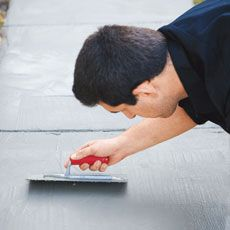 How to Resurface Worn Concrete Trowel concrete resurfacer over your worn walkway, and you'll have a brand new, durable surface with uniform color