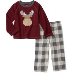 Child of Mine by Carters Baby Boys' 2 Piece Moose Fleece PJ's: Baby Clothing : Walmart.com $8.94