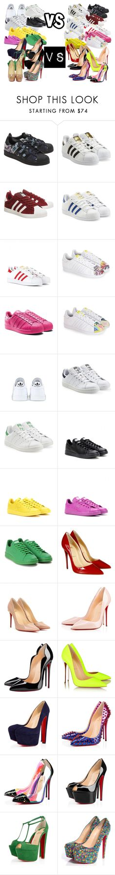 """""""Stan Smith VS Adidas Superstar ou Supercolor"""" by mackenzie-swagg on Polyvore featuring mode, adidas Originals, adidas et Christian Louboutin"""