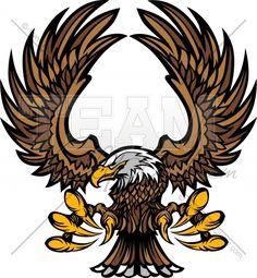 Eagle Clipart Mascot Graphic Vector Clipart Logo