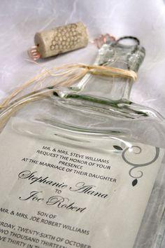 Botella de vino fundido con recuerdo de por CreativeChameleon