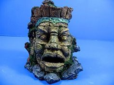 """Ancient Myth Jungle Statue Ruins Cave 7.1""""x5.7""""x8"""" Aquarium Ornament Decor stone"""