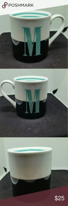 """Kate Spade NY Lennox Initial """"M"""" To The Letter Ceramic Mug Lennox NWOT, no flaws and never used. kate spade Other"""