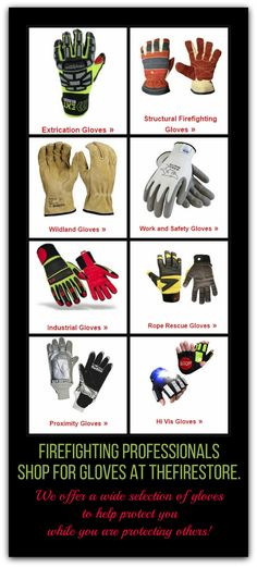 We have a wide selection of PPE Gloves, from extrication to Hi-vis. We have you covered. #TheFireStore #Firefighter