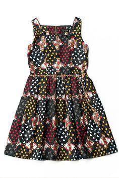 Lolibrary | Jane Marple - JSK - Trump Print Square Dress