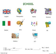 Paradiso delle mappe: Inglese Worksheets, English, School, Cards, Collection, English Vocabulary, Literacy Centers, English Language, Map