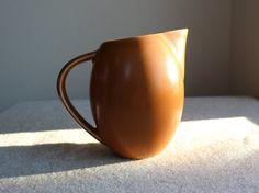 Hoganas Keramik Stengods Sweden Pitcher, Swedish Ceramic Pitcher, Terracotta Color by objectsofvirtu on Etsy