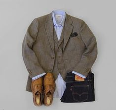 Nice casual outfit for the last workday of right?👍Combine your Hockerty blazers, shirts, vests with any pants to create your style! Men's Collection, Mens Suits, Vests, Outfit Of The Day, Custom Made, Your Style, Blazers, Casual Outfits, Friday