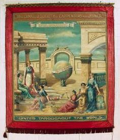 One of the union banners held by Museums Victoria
