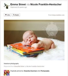 Baby Photography Ideas Grown up Sleeping Over Books
