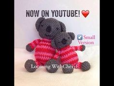 Rainbow Loom Koala Bear (small version) - Loomigurumi - Looming withcheryl. Loomigurumi Tutorial is Now on YouTube! Charms / figures / gomitas / gomas. Crochet hook only. Please Subscribe ❤️❤ m.youtube.com/user/LoomingWithCheryl