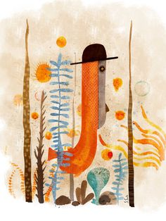 Pez con sombrero. Illustration. Sergio Gonz
