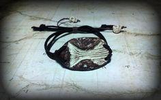 striped fossil rock adjustable bracelet unisex