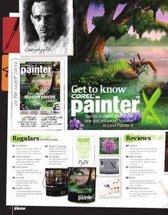 a free copy of Corel Painter Magazine Corel Painter, Digital Art Tutorial, Animal Paintings, Photo Manipulation, Art Tutorials, How To Draw Hands, Photoshop, Graphic Design, Magazine
