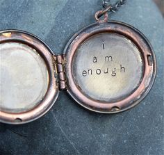 Gorgeous hand stamped soul mantra lockets.  Custom soul mantra phrase for our favorite teenage friend!