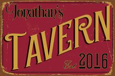 Customizable TAVERN SIGN  Pub Sign custom Tavern Sign