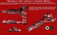 Republic light assault cruiser (Besh) ortho [New] by unusualsuspex on DeviantArt