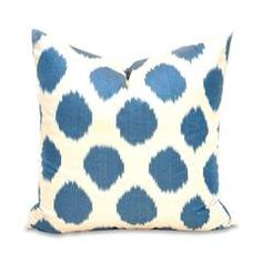 Royal Blue Ikat Spotted Pillow Furbish studio