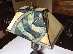 The Leaf stained glass lamp by Handwrought on Etsy, $400.00