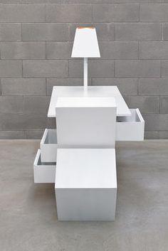 Kenn / mit ausziehbarer Tischplatte - inkl. Staufächern und Lampe | Seletti | Schreibtisch
