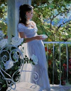 Peaceful Tea Time ~ by Vladimir Volegov is the painting that I've chosen for you. I hope you like it as much as I. Enjoy it, sweet Mary! Carmen xoxo