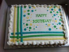 Whimsical Gender Neutral Sheet Cake www.facebook.com/caymancake