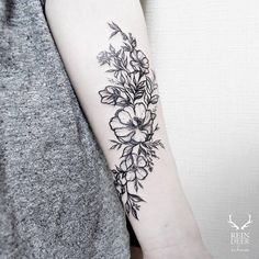 ... Pinterest | Forearm flower tattoo Black tattoos and Inner arm tattoos