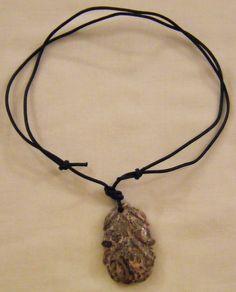 collana con cordino nero e ciondolo in pietra  dura agata , by crys_e_cri, 8,00 € su misshobby.com