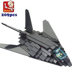 2017 New simple package sluban M38-0108 Military F117 bomber plane bricks war Education bombardment aircraft building Blocks DIY