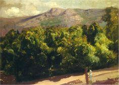 Jardines en San Ildefonso, 1907 Joaquín Sorolla.