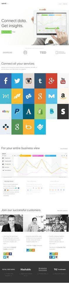 Nice, clean site using flat web design.