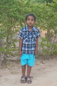 Dasith lives in Sri Lanka with his aunt and 2 siblings. He likes art and he helps at home by caring for animals. Pray for him to find a sponsor today.