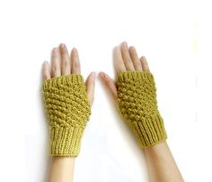 SUMMER SALE 15 OFF  Hand Knit Fingerless Gloves by naryaboutique, $19.55