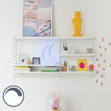 Wall Lamp Moon Neon Blue Dimmable with Remote Control Exterior Design, Interior And Exterior, Happy Room, Neon Lighting, Decoration, Floating Shelves, Kids Room, Modern, Furniture