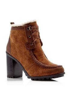 Sam Edelman Madge Faux Fur Lace Up High Heel Booties   Bloomingdale's