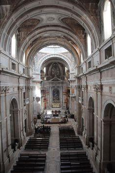 'Basílica do Palácio Nacional de Mafra'. # Mafra, Portugal.
