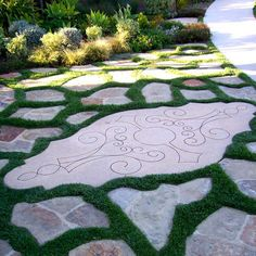 Creepy thyme pathway, look and smell great! Outdoor Landscaping, Outdoor Gardens, Outdoor Decor, Outdoor Spaces, Italian Garden, Backyard Paradise, Backyard Projects, Pathways, Garden Paths