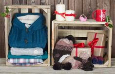 Womens Christmas gift inspiration - pyjamas, trackpants, beanie and mittens, knitwear all from Saltrock