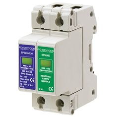 A1SPM/40/230N - 40kA Single Phase With N/E Module (w/o Remote Connector) - Type 2 Test Class II - This modular #surgeprotection #device provides #protection of equipment connected to incoming low voltage AC power supplies against the damaging effects of transient over voltages caused by local #lightning strikes, or the switching of electrical inductive or capacitive loads.
