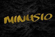 Minusio . Script Fonts