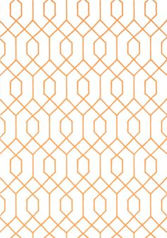 La Farge #wallpaper in #orange from the Graphic Resource collection. #Thibaut