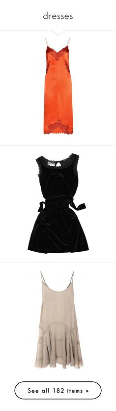 """dresses"" by nudelune ❤ liked on Polyvore featuring dresses, lingerie, apricot, red slip, cesare paciotti, rag & bone, orange, orange silk dress, silk dress and orange dresses"