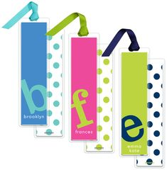 Letter Perfect Bookmarks in Your Color Choice