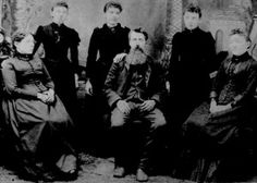The family of Laura Ingalls Wilder. From left to right, Caroline, Carrie, Laura, Charles, Grace and Mary.