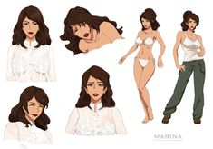 Marina - commission by Precia-T - Best Character Designs 2019 Female Character Design, Character Modeling, Character Design References, Character Design Inspiration, Character Concept, Character Art, Concept Art, Fantasy Characters, Female Characters